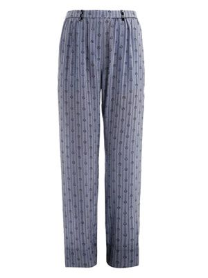 Mikhail diamond silk trousers