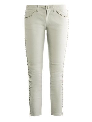 Dobson studded leather trousers