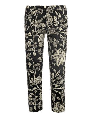 Irina Hawaiian-print linen trousers