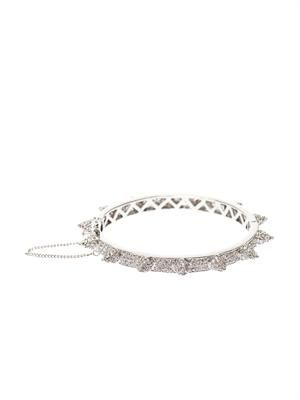 Pavé-cone hinged bracelet