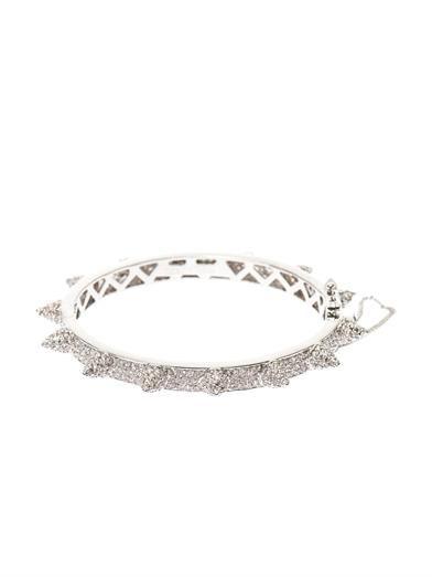 Eddie Borgo Pavé-cone hinged bracelet