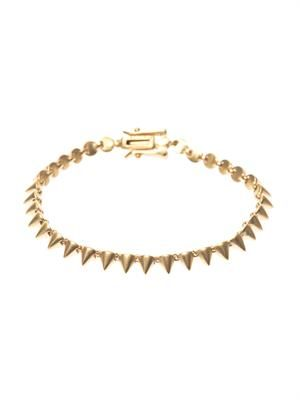 Mini-cone gold-plated bracelet