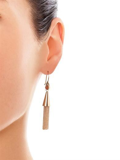 Eddie Borgo Cone tassel gold-plated earrings