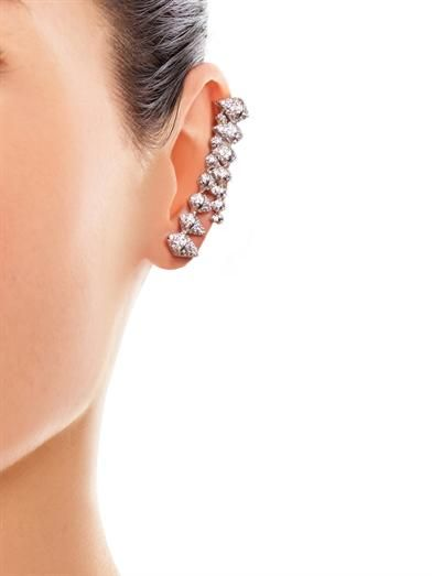 Eddie Borgo Zip-edge crystal pavé ear cuff