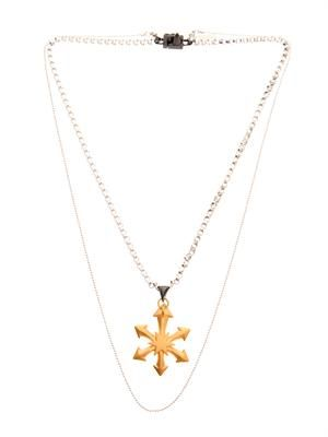 Star pendant double-chain necklace