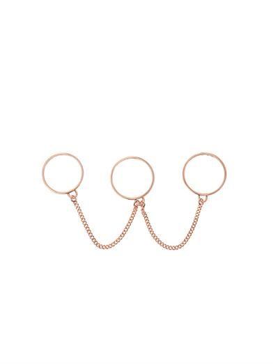 Eddie Borgo Three-finger chain-link rings