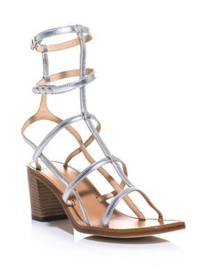Shiny strappy sandals