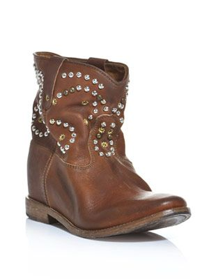 Caleen hidden wedge studded boots