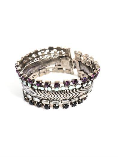 Dannijo Liz rhinestone embellished bracelet