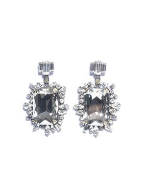 Nahm square crystal earrings