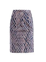 Stampa Rete print pencil skirt