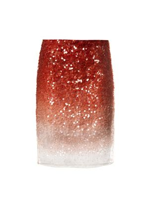 Degrade sequin skirt