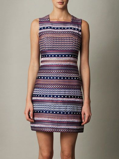 Missoni Swarovski-crystal embellished stripe dress