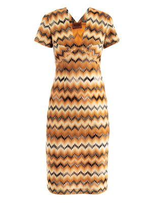 Snake chevron dress