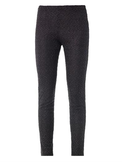 Missoni Metallic lurex-knit leggings