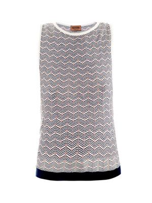 Chevron knit sleeveless top