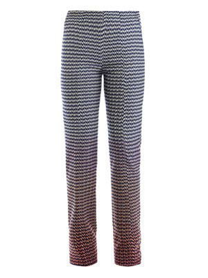 Degrade chevron and spot trousers