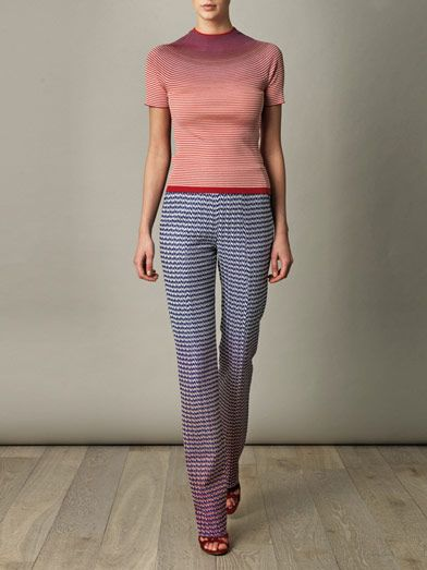 Missoni Degrade chevron and spot trousers