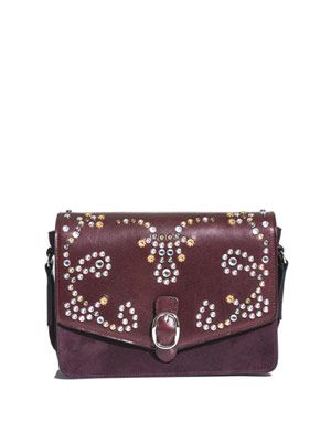 Elvis suede and studded bag