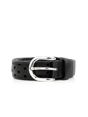 Klaude perforated-leather belt