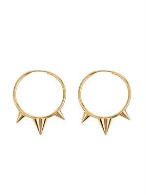 Downtown spiked hoop earrings