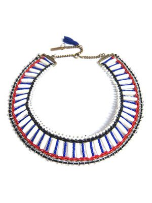 Wide beaded necklace