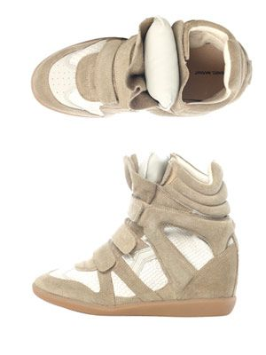 Bazil hidden-wedge trainers