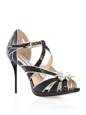 Cannes glitter strappy sandals