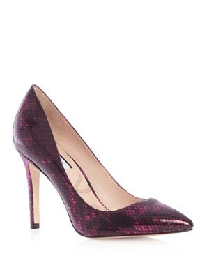 Goldstone snake-print court shoes