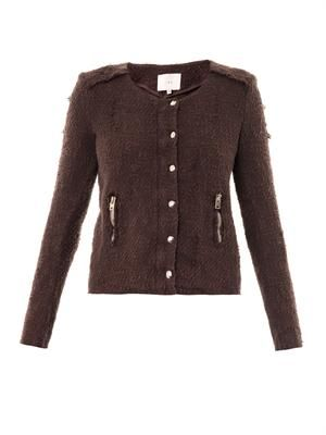 Regan distressed tweed jacket