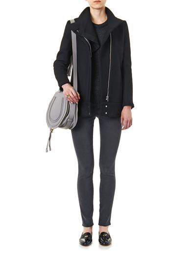 Iro Funnel-neck zip-front jacket