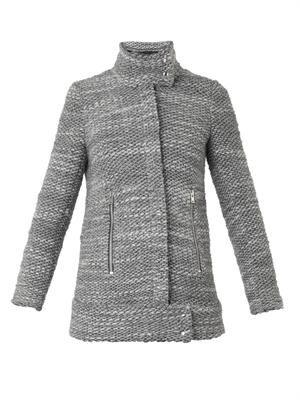 Cydney zip-front bouclé jacket