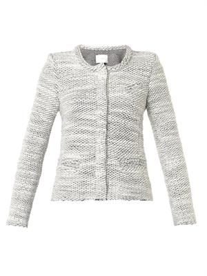 Carene collarless bouclé jacket