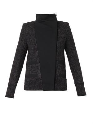 Cydney contrast-panel bouclé jacket