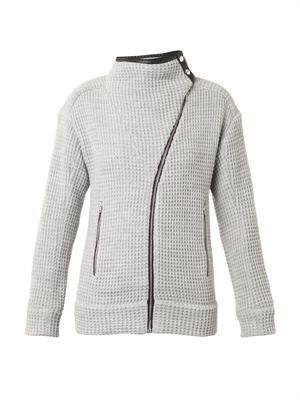 Chelane waffle-knit jacket