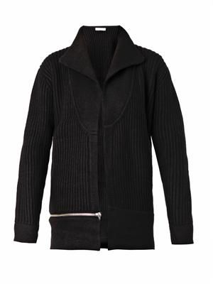 Matari ribbed-knit wool jacket