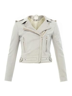 Luiga leather biker jacket