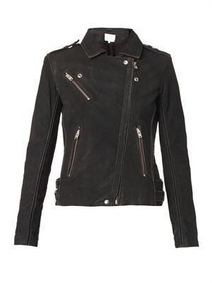 Jay distressed leather biker jacket