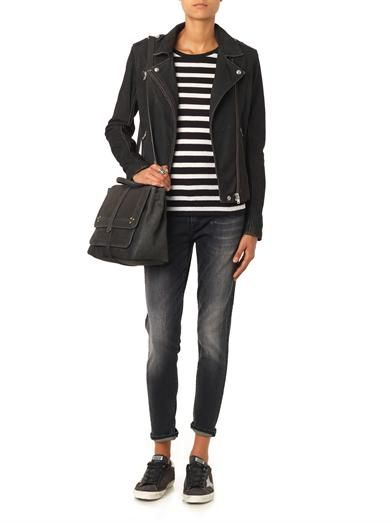 Iro Jay distressed leather biker jacket