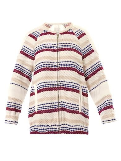 Iro Axel textured bomber jacket