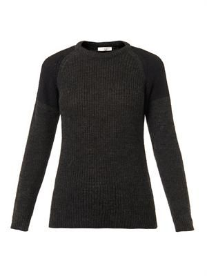 Piper contrast-shoulder sweater