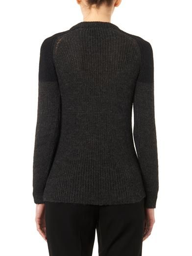 Iro Piper contrast-shoulder sweater
