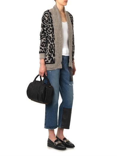 Iro Leopard intarsia-knit cardigan