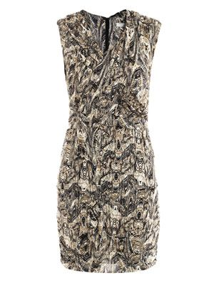 Neal printed silk dress