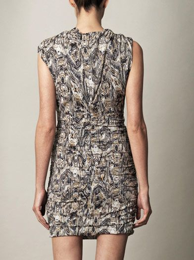 Iro Neal printed silk dress