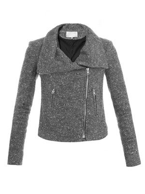 Alex wool biker jacket