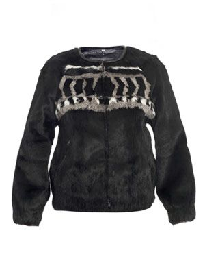 Lorna patterned fur jacket