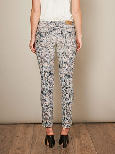 Iro Ogden printed low-rise skinny jeans