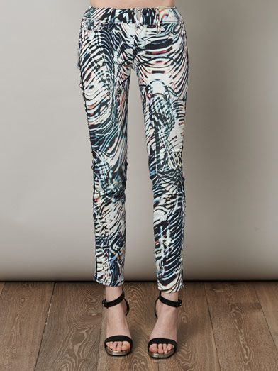 Iro Aster mid-rise printed skinny jeans