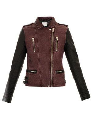 Anabela leather biker jacket